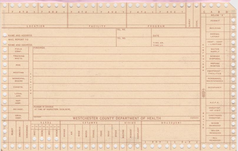 Keysort Card (Back)